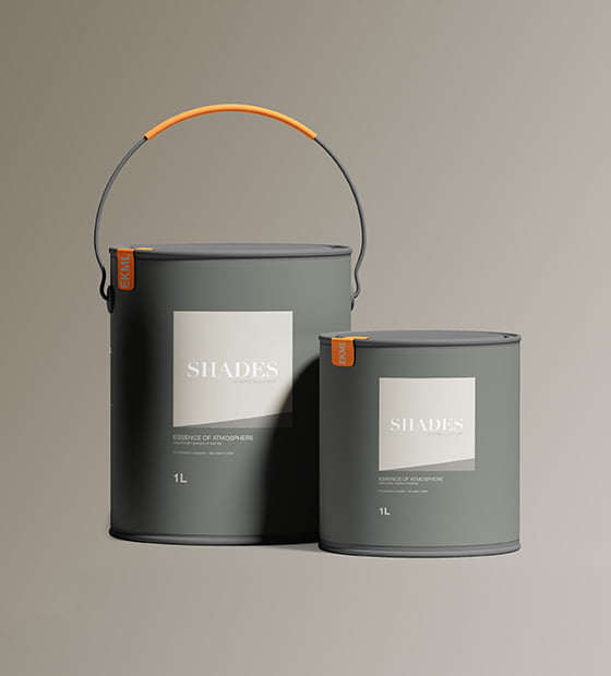 Paint Packaging Mockup CLAY